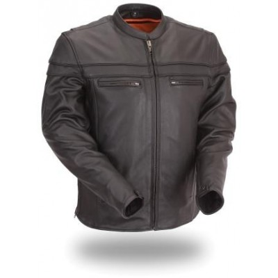 Men's Sporty Scooter Crossover Leather Jacket