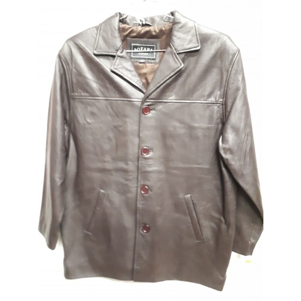 CASUAL Leather Jacket Brown CB115