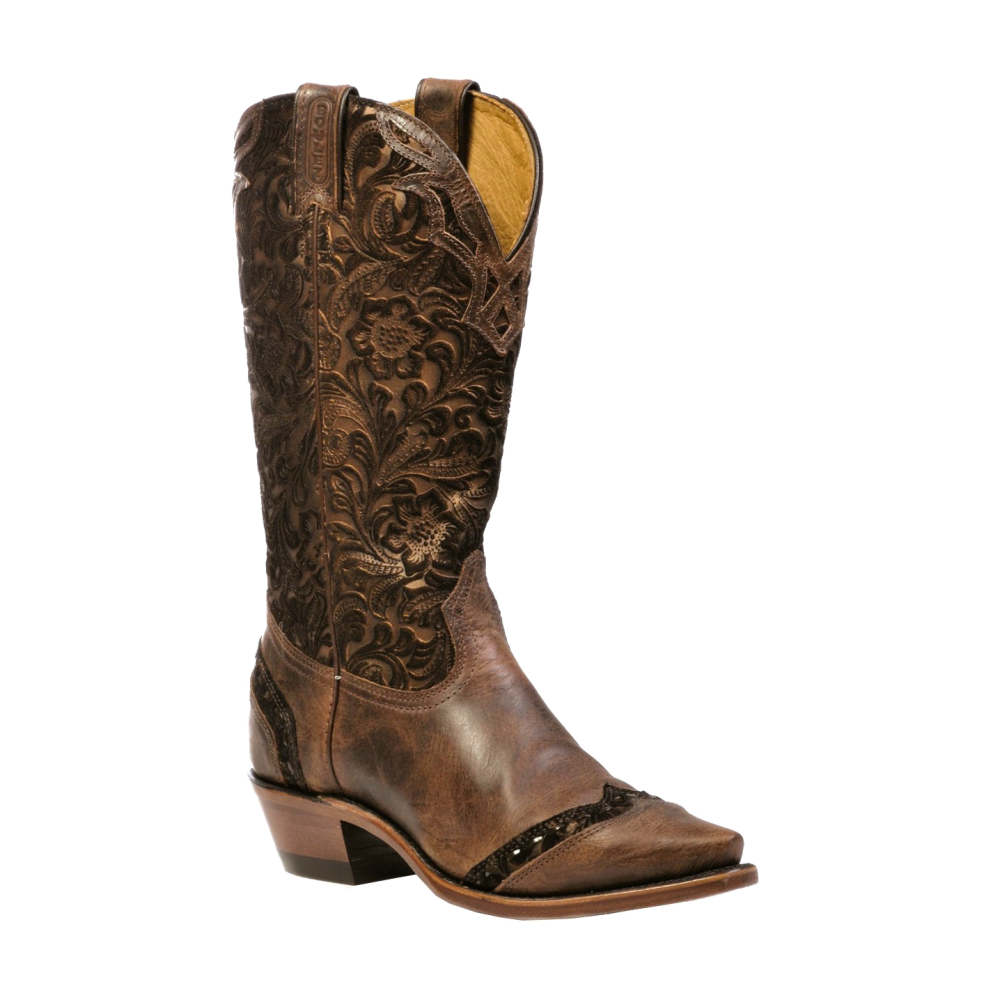 "Boulet 13"" Ladies Selvaggio Wood Barocco Calf Tabacco snip toe boot 1655"