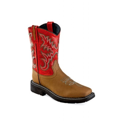 OLD WEST WB1004Y Youth Square Toe