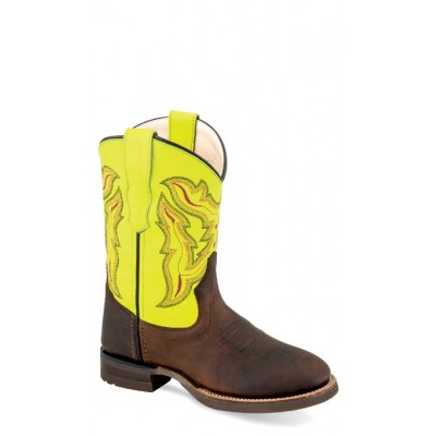 OLD WEST BRC 2003 Children's Broad Square Round Toe Boots