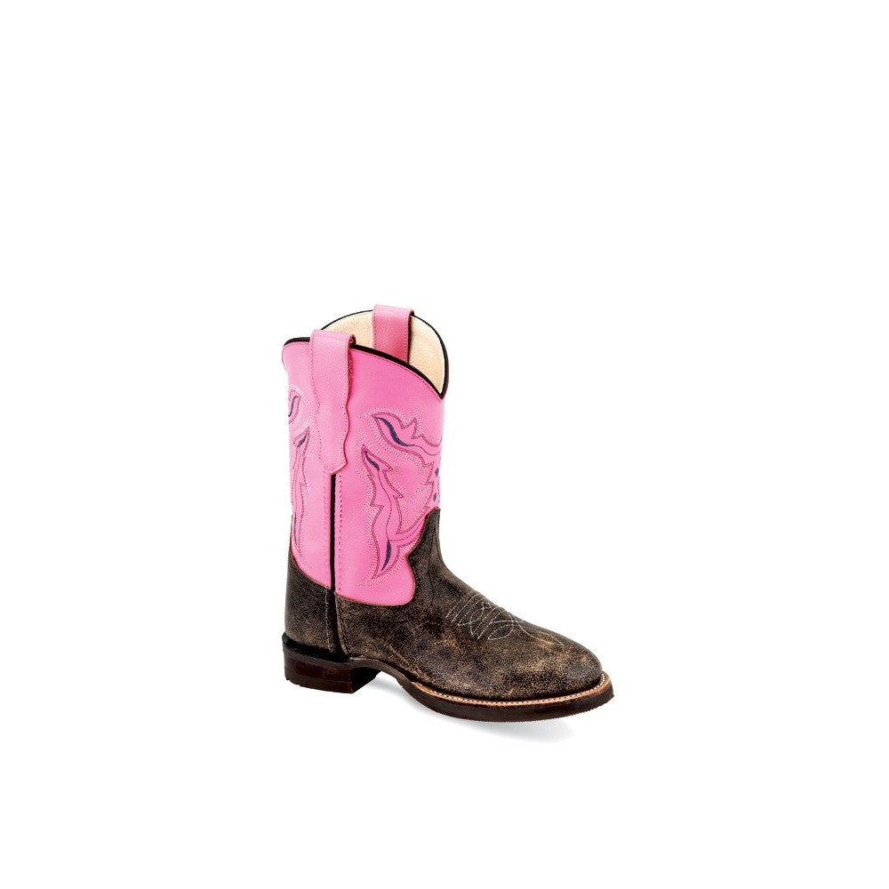 OLD WEST BRC 2004 Children's Broad Square Round Toe Boots