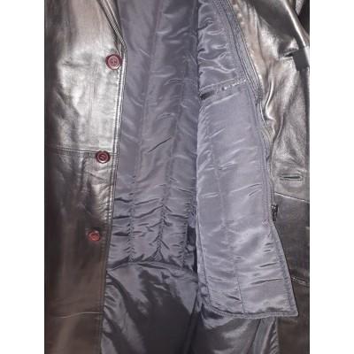 Men's Full Length soft leather coat.
