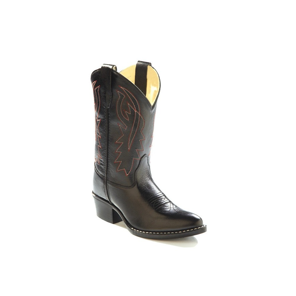 Old West 8110CH Childrens Black Western Pointy Toe Boots